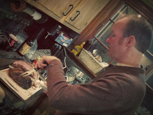 Dave Cooking Prime Rib