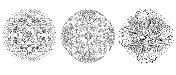 Artists Colouring Book Art Nouveau : Flower mandalas coloring book coming in 2015! wendypiersall.com