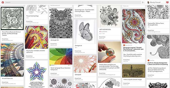 My Mandalas Pinterest Board