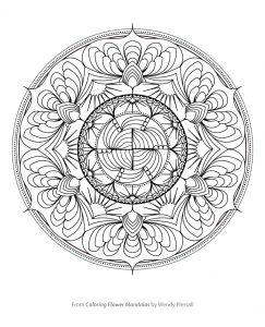 Free Sample from Coloring Flower Mandalas