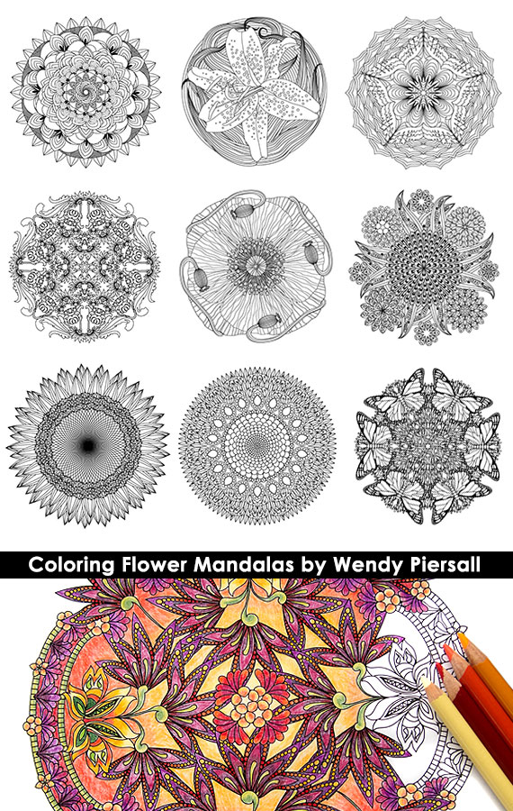 Coloring Flower Mandalas Book Preview
