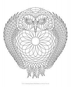 Owl Dreamcatcher Coloring Page From Dream Mandalas By Wendy Piersall